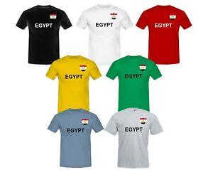 c514f28ccf5 2018 FOOTBALL WORLD CUP MEN'S LADS BOYS SOCCER TEAM EGYPT T-SHIRTS ...