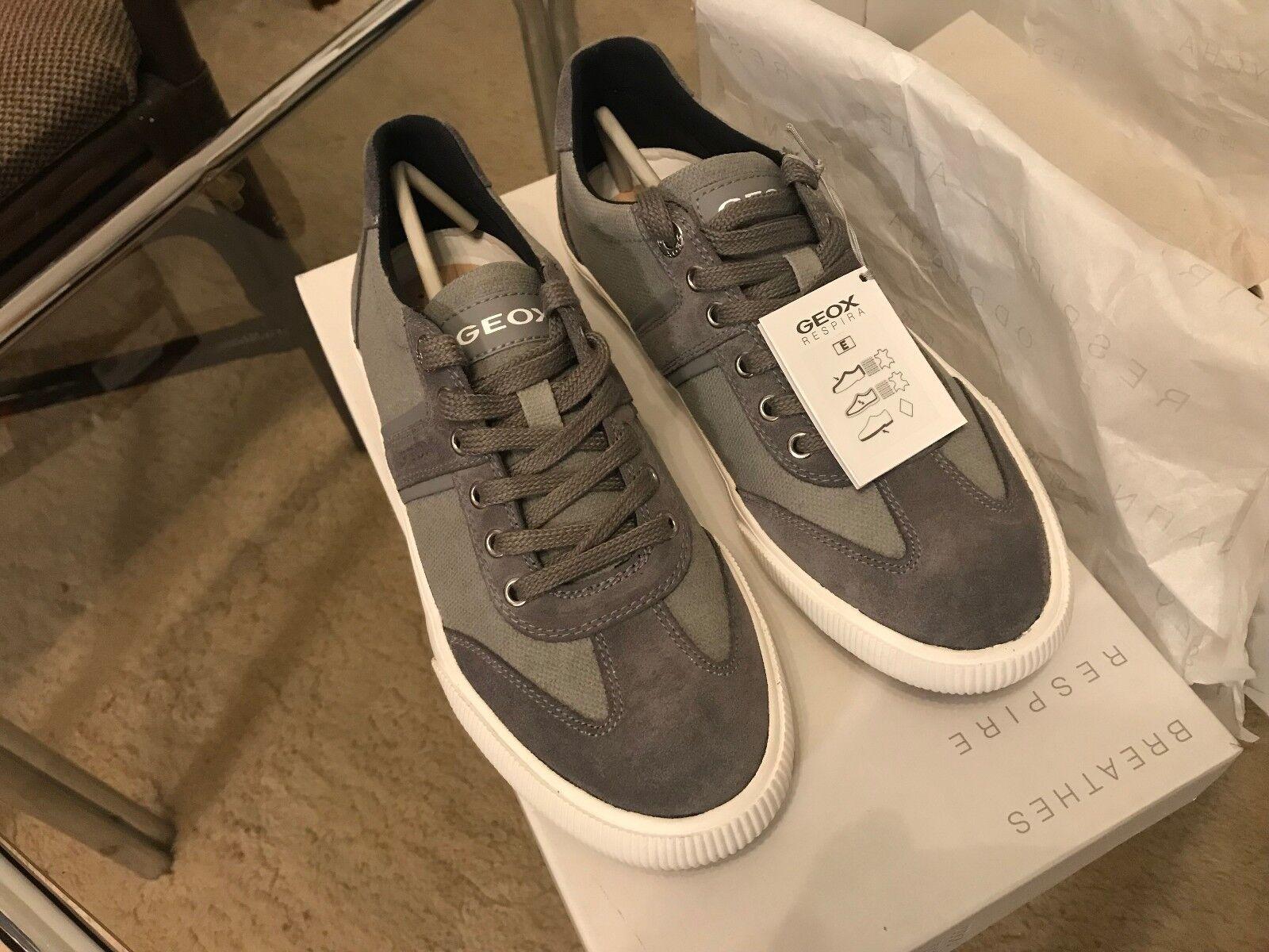 Geox Geox Geox Dart Sneaker Wildleder Herren Gr.40 US 7 Schuhe Grau U2Q2R01022C1006 NEU 50 b15d9f