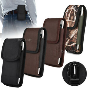 Vertical-Heavy-Duty-Canvas-Belt-Clip-Case-Cover-Pouch-Holder-for-Samsung-iPhone