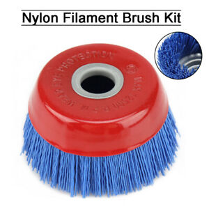 "2/"" Abrasive Wire Nylon Polishing Grinding Brush for Remove Weld 1//4/"" Shank 120#"
