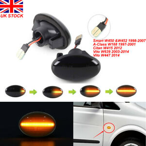Dynamic-LED-Side-Indicator-Repeater-Light-For-Mercedes-Smart-W450-A-Class-W168