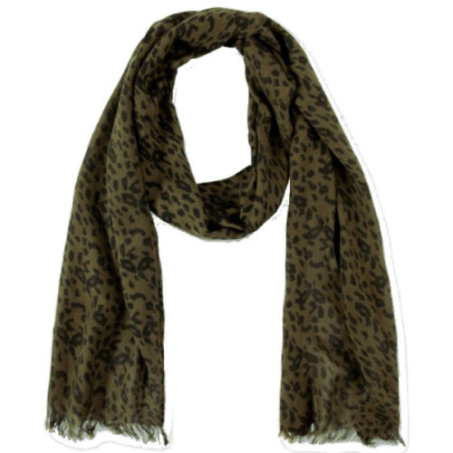 NEU TOM TAILOR Schal scarf LEO grün schwarz 100/% Viskose 180 x 28 cm UVP 17,95 €