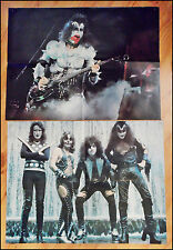KISS 70's Magazines Pull Out Posters Lot Of 2 Gene Simmons Paul Stanley