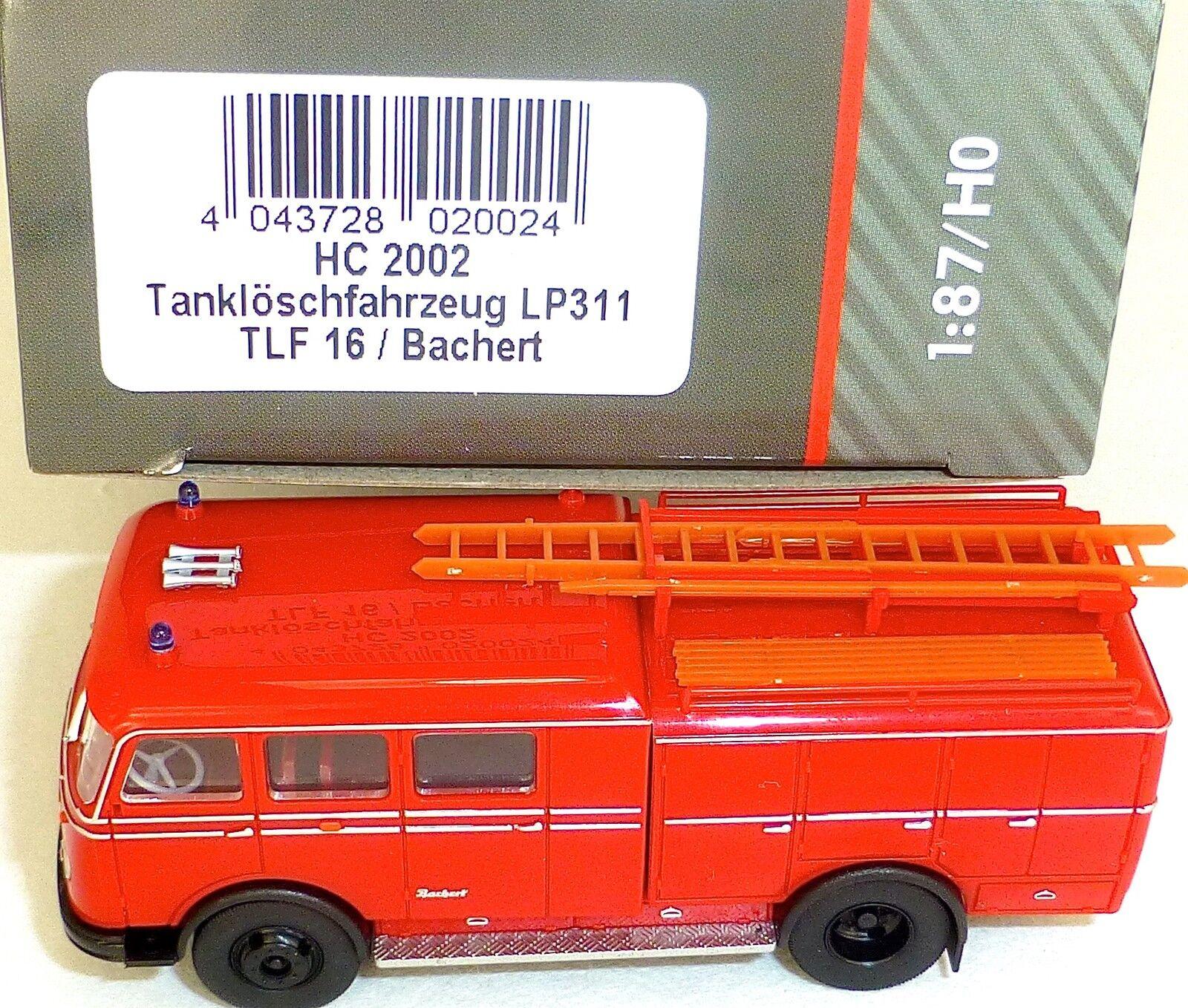punto de venta en línea Vehículo de Bomberos Cisterna LP311 TLF16 Bachert Heico Heico Heico HC 2002 H0 1 87 Nuevo Μ  Envío rápido y el mejor servicio