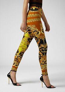 990-Versace-Baroque-Barocco-Femme-Print-Trousers-Legging-40-A83568-A231841A7048