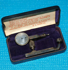 Ha Lowe Model B Last Word Dial Test Indicator With Rare Etched Dial Face