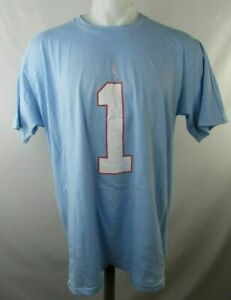 Tenseness-Oilers-Fanatics-Vintage-Blue-1-Warren-Moon-T-Shirt-NFL-L-XL