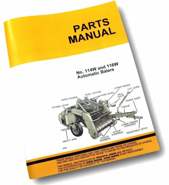 John Deere 114w 116w Baler Parts Catalog Manual Ebay. Parts Manual For John Deere 114 116 114w 116w Automatic Square Baler Knotter. John Deere. John Deere 335 Baler Parts Diagram At Scoala.co