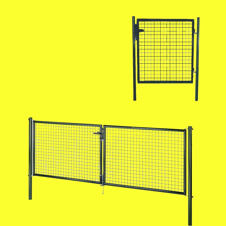 gah wellengitter tor gartentor doppeltor maschendraht anthrazit deutsche ware ebay. Black Bedroom Furniture Sets. Home Design Ideas