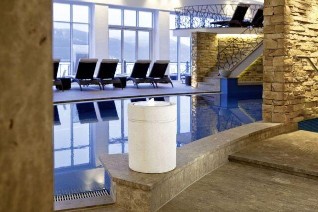 Brunnen Säulenbrunnen Spa Wellness LED Beleuchtung Gartenbrunnen Zimmerbrunnen