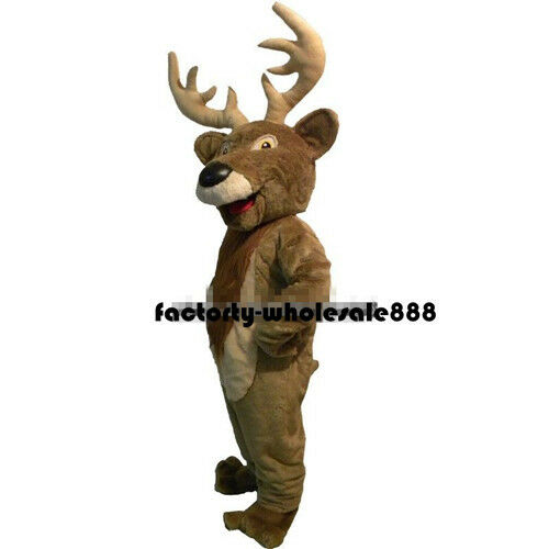 Halloween Christmas Deer Mascot Costume Suit Adults Fancy Dress Bithday Party