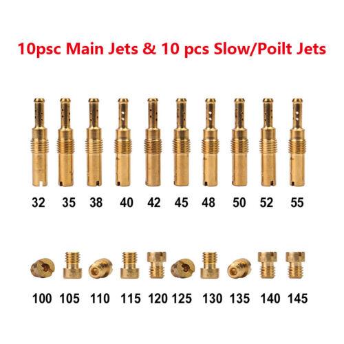Universal Main Jet /& Slow//Pilot Jet Set for Carburetor PWK Keihin OKO CVK Carb