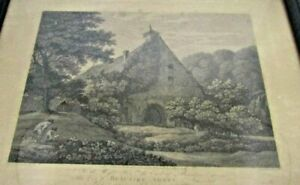 Old-antique-print-engraving-Beaulieu-Abbey-Hampshire