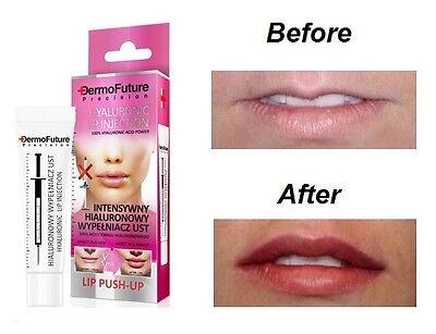 DERMOFUTURE INTENSIV Hyaluronsäure Lippen Push-Up Plumper Verstärker für Fuller