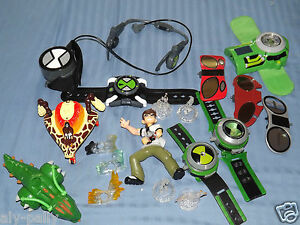 BEN TEN 10 FIGURES VEHICLE WATCH OMNITRIX OMINVERSE WATCHES FREE