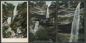Hunter-Haines-Falls-Greene-County-NY-Three-1906-08-Postcards-KAATERSKILL-FALLS