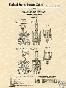 IDEAL-Mr-Machine-Robot-PATENT-Art-Print-READY-TO-FRAME-Original-wind-up-toy