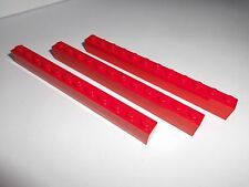 Lego (6112) 3 Basicsteine 1x12x1, in rot aus 3225 7240 6339 60052 6752 4564 4643