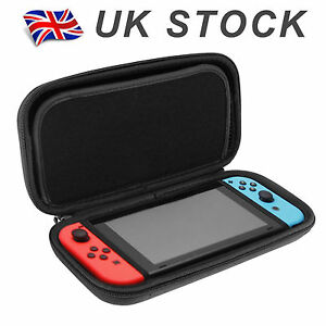 Nintendo-Switch-Hard-Shell-Carrying-Display-Case-EVA-Black-Plain-Bag-Cover