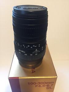 Sigma-100-300mm-f4-5-6-7-DL-for-Minolta-AF-Mint