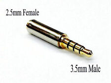 3.5MM MALE TO 2.5MM FEMALE AUDIO STEREO HEADPHONE JACK CONVERTER ADAPTER GOLD