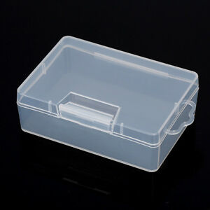 Clear plastic storage jewelry box business card container holder image is loading clear plastic storage jewelry box business card container reheart Gallery