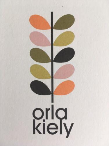 Orla Kiely muestra pequeña pieza de corte remanente de tela de algodón