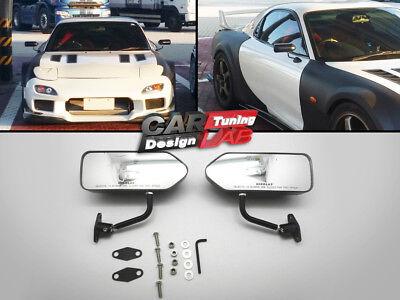 GP Black Glossy Race Small Mirrors Auto//Bike F1 Type Kit Side Wing Pair RH+LH