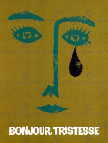 ADVERT NOVEL BONJOUR TRISTESSE HELLO SADNESS TEAR POSTER ART PRINT BB2158B