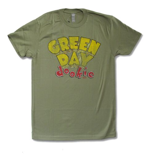 Green Day Dookie Olive Green T Shirt New Official Punk Band Music