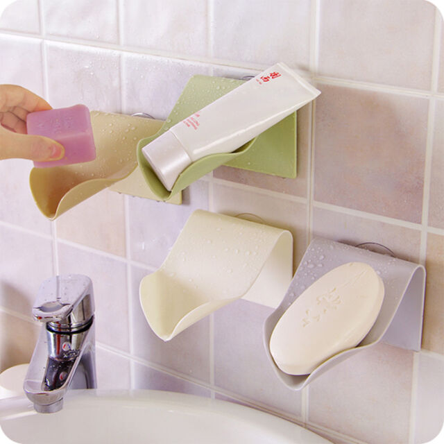 1PC Convinient Travel Drying Drain Soap Dish Holder Bathroom Kitchen Accessories