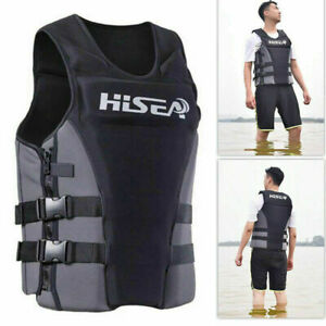 Unisex-S-3XL-Neoprene-Life-Jacket-Vest-for-Water-Rescue-Surfing-Boating-Swimming