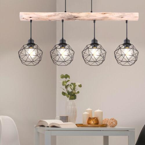 Pendel Strahler Decken Lampe Vintage Holz Balken Gitter Küchen Hänge Leuchte