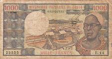 Billet banque CONGO 1000 FRANCS 1984 état voir scan