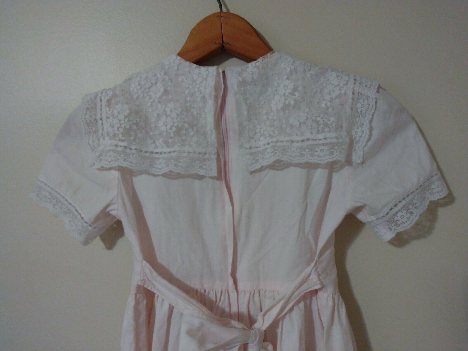 Childs Gunne sax dress light pink lace ruffled Gi… - image 7