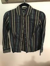 Navy/Olive Green/Wine Stripe Button Down Attention Extra Small