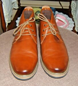Bruno Marc Leather Men's Brown Chukka Ankle Boots SZ 8.5 NWOT