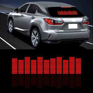 Details about Car Sticker Music Rhythm LED Flash Light Sound Activated  Equalizer Red Lamp Kit
