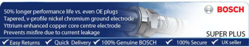 PEUGEOT 406 1.8i 16V 95-99 BOSCH ITTRIO Super Plus Spark Plug 8