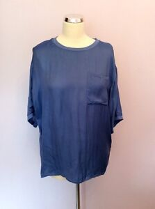 Top Silk Lilou Size Oversized 6 Blend Blueberry Reiss XgqP4