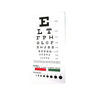 Medical Snellen Pocket Eye Exam Test Chart Free shipping # EC-PSN