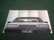 October 1986 FORD Australia FAIRLANE 12pg COLOUR BROCHURE + SPECIFICATION SHEET