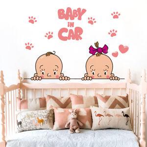 Details About Cute Car Sticker Decor Kids Room Kindergarten Creative Diy Removable