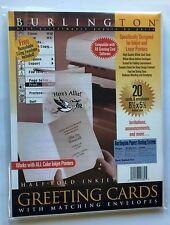 "Burlington Greeting Cards half-Fold Inkjet w/Envelopes 8.5""x5.5"" 20 Count-New"