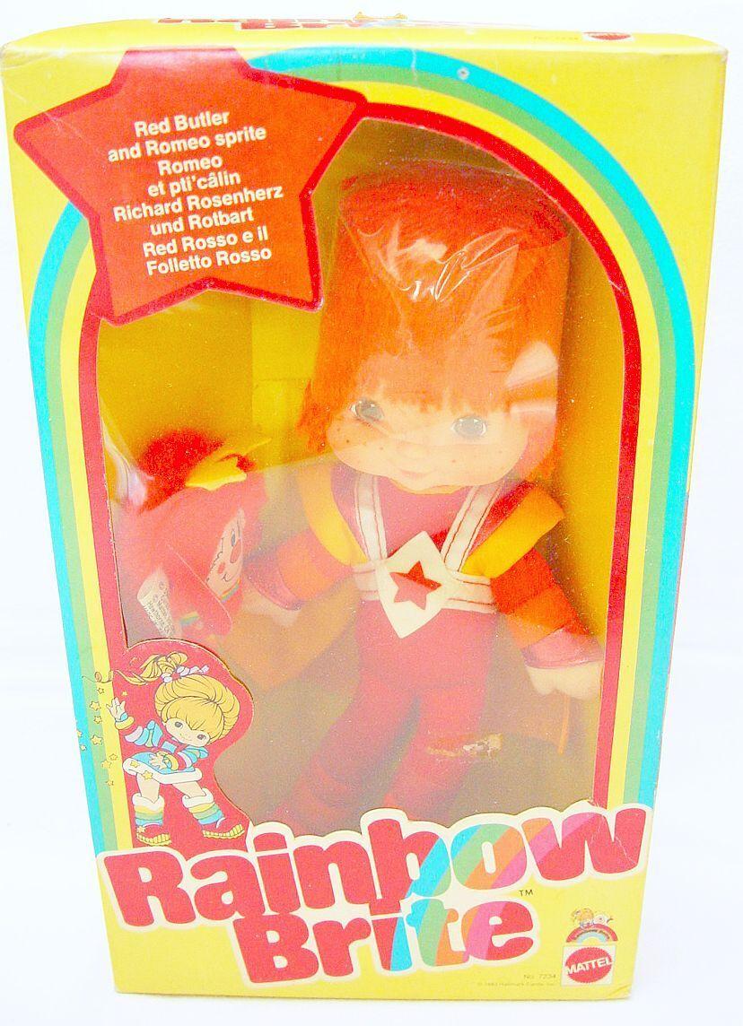 Mattel Hallmark RAINBOW BRITE rot BUTLER TV Comic 26cm Doll Figure  7234 MISB`83