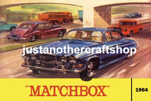 Matchbox Spielsachen 1964 Jaguar Katalog Abdeckung Groß A3 Poster Werbung