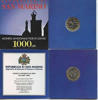 Bimetallmünzen Gn267 San Marino 1000 Lire 1997 Km#368 Bimetall In Original Folder Bankfrisch Münzen Europa