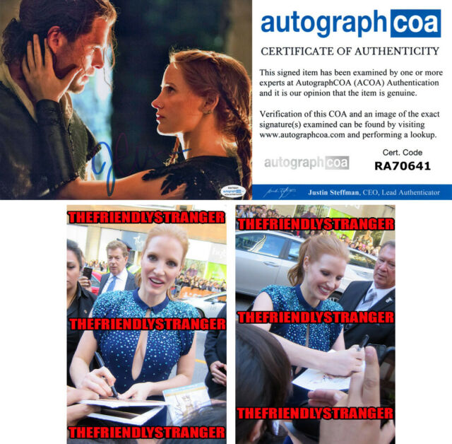 JESSICA CHASTAIN signed Autographed