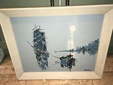 Abstract Oil Painting George R Deakins