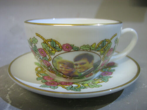 1980s Sutherland England Bone China miniature cup and saucer